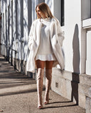 Vera Faux Fur Coat - Off White