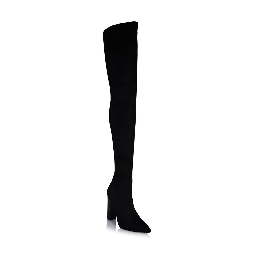 Odette Black Suede Boot by Billini