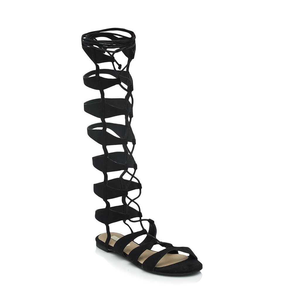 Kalani Black Suede Gladiator Sandals by Billini