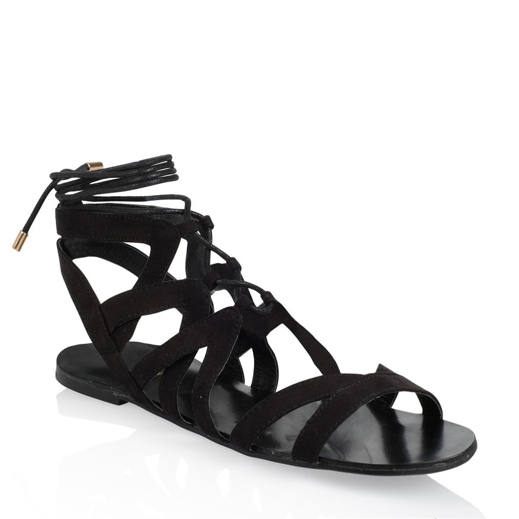 Makani Black Suede Sandals by Billini