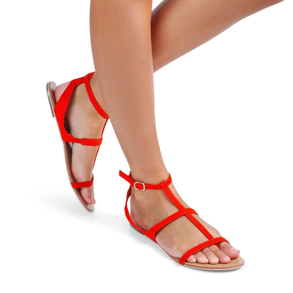 Taveti Coral Suede Sandals by Billini