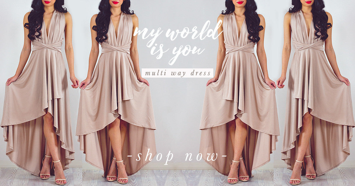 My World Is You Multiway Dress