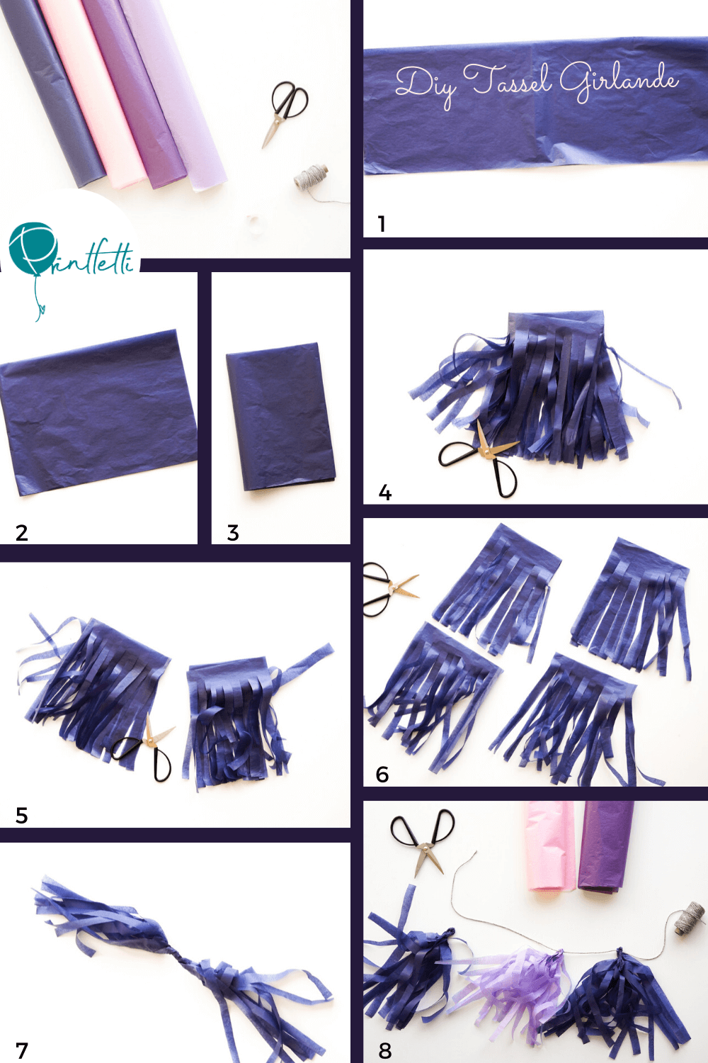 diy tasselgirlande step by step