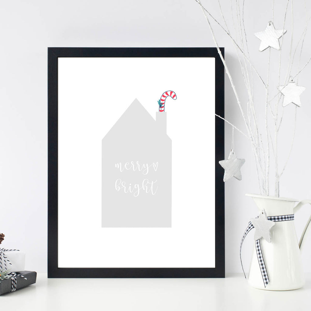 weihnachts poster merry and bright