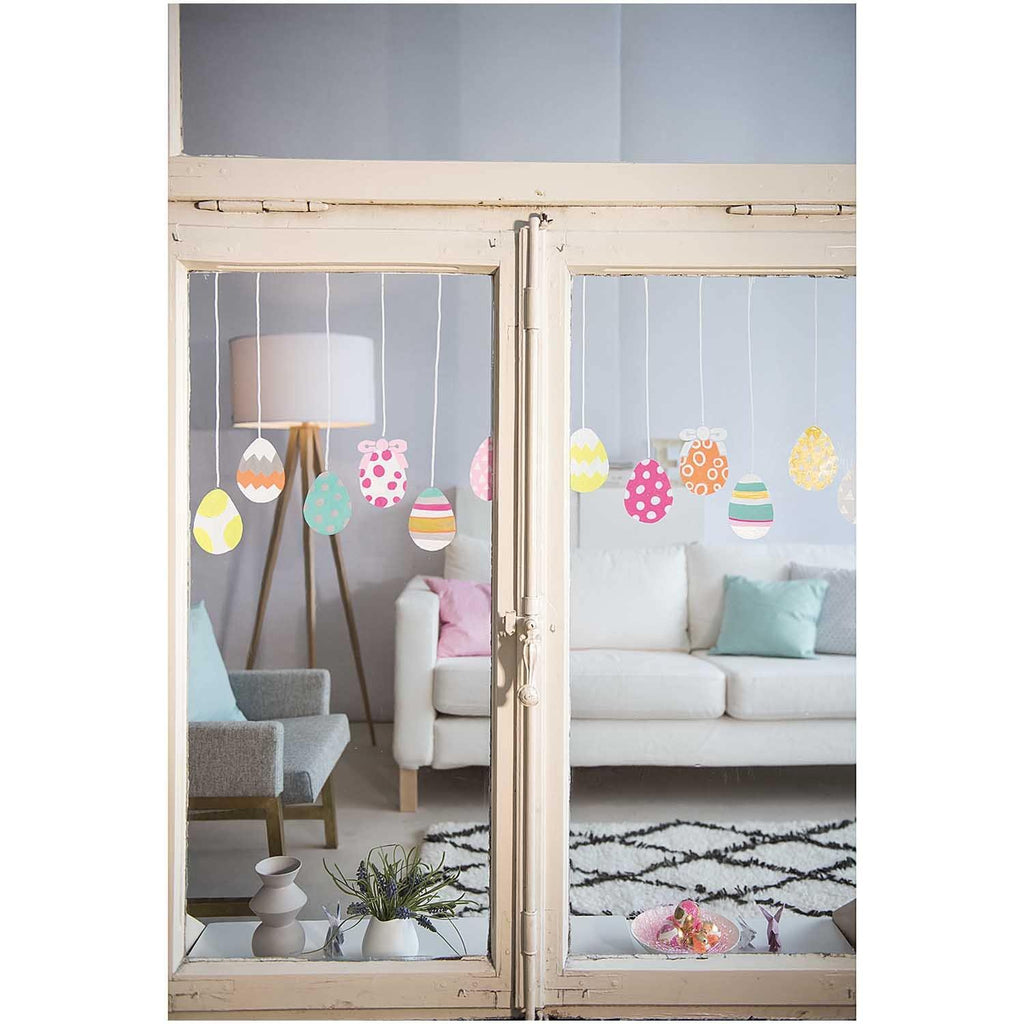 chalk art fenster malvorlagen set ostern