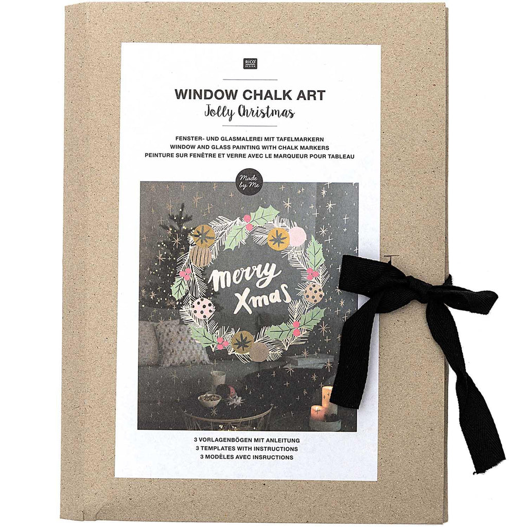 window chalk art motivsammlung jolly christmas