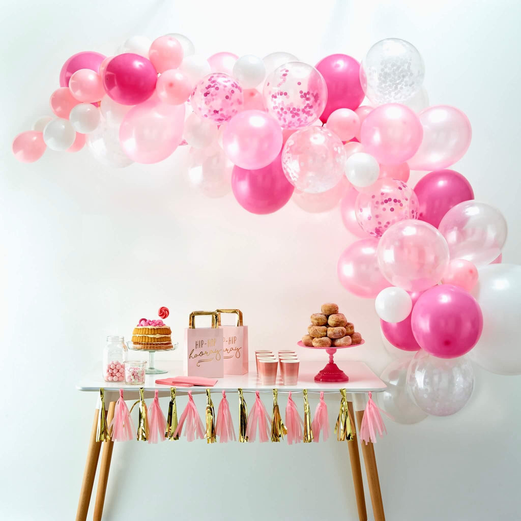 Ballon Girlande Set rosa pink Ginger Ray