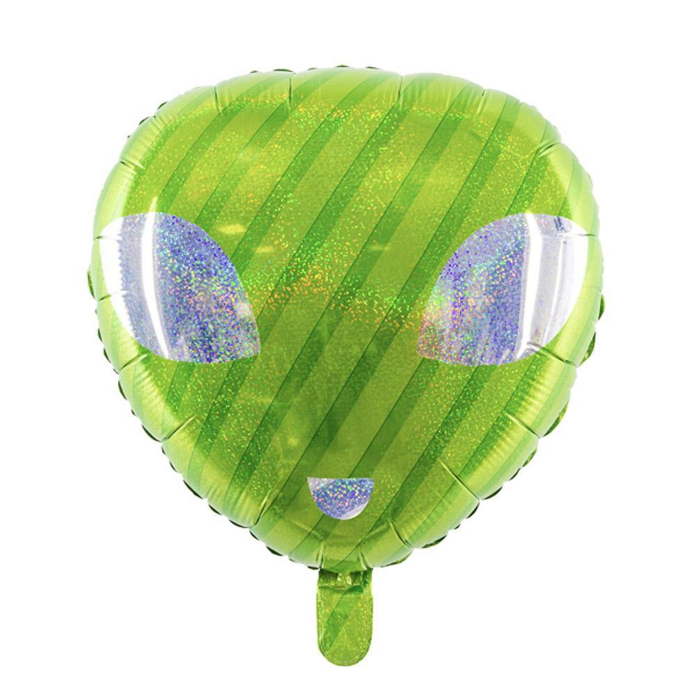 alien Folienballon grün