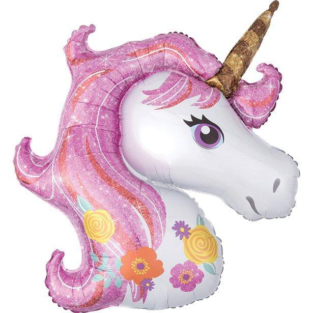 magical unicorn folienballon einhorn rosa