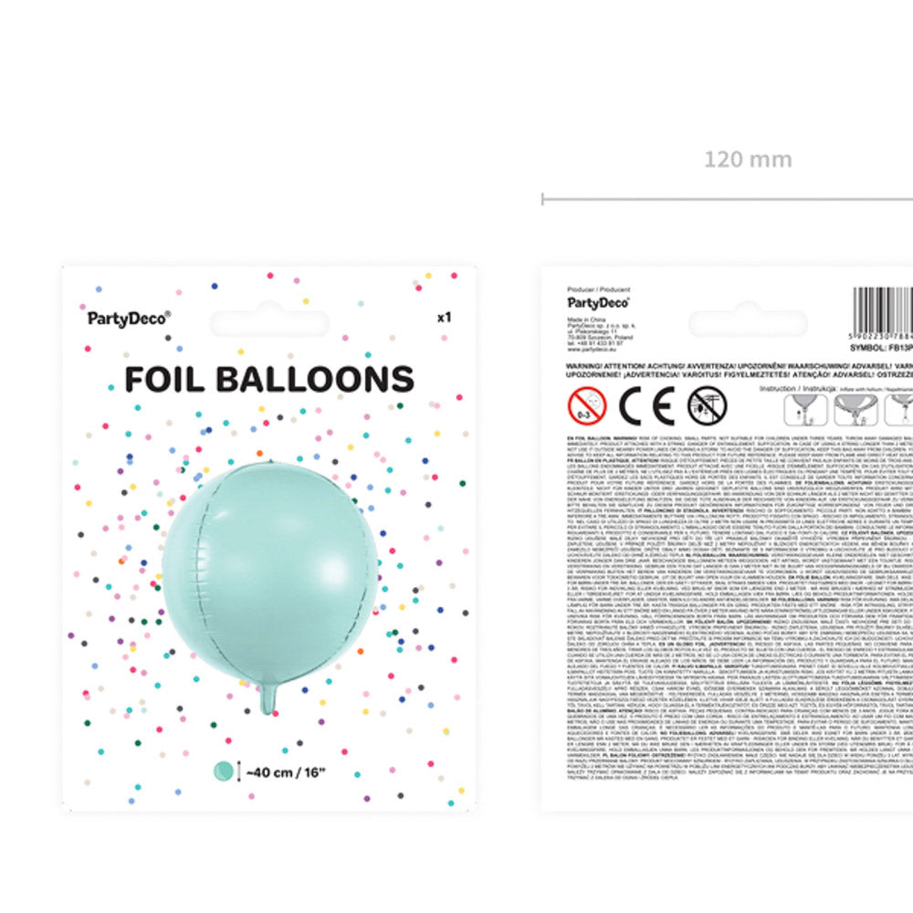 folienballon mint rund