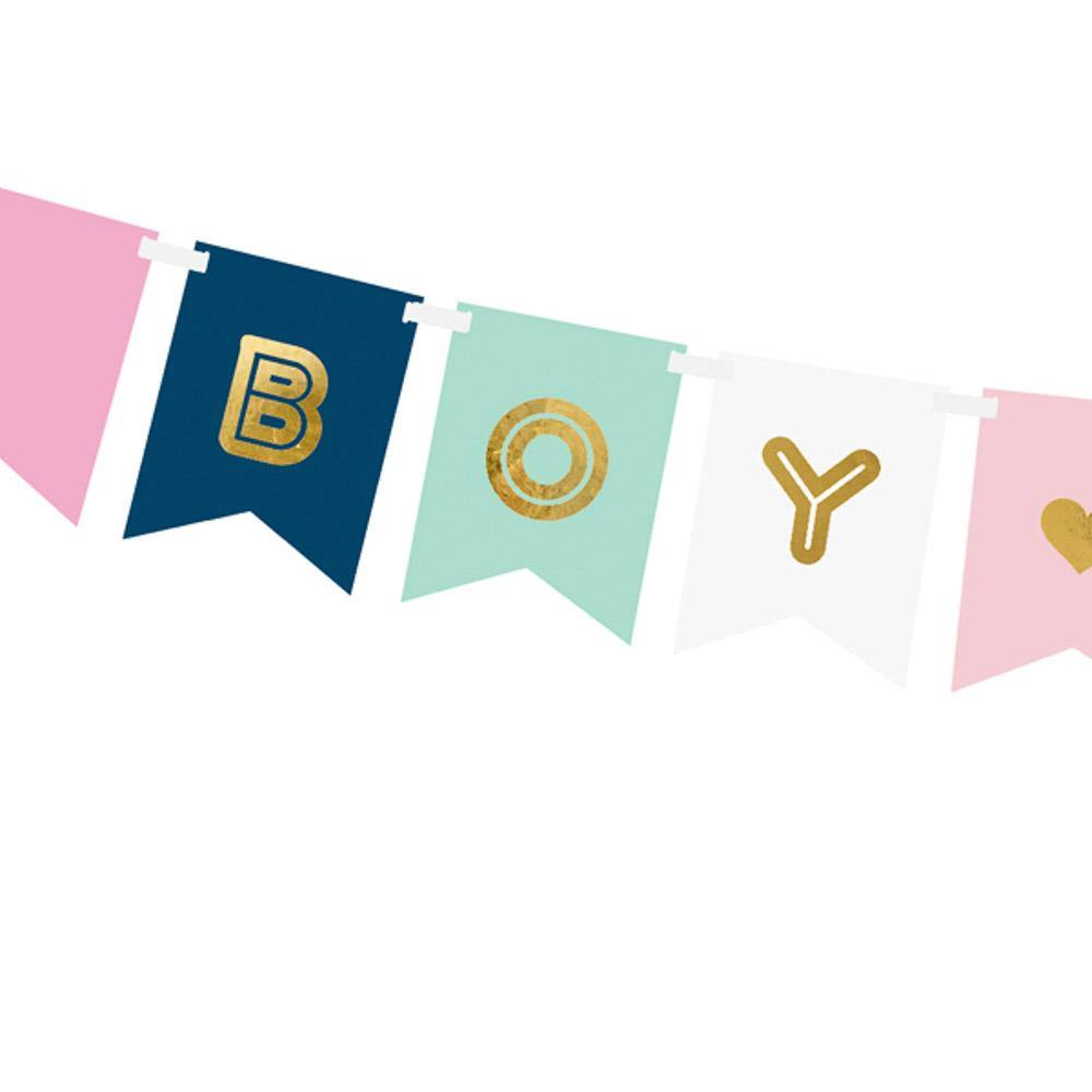 boy or girl gender reveal party girlande