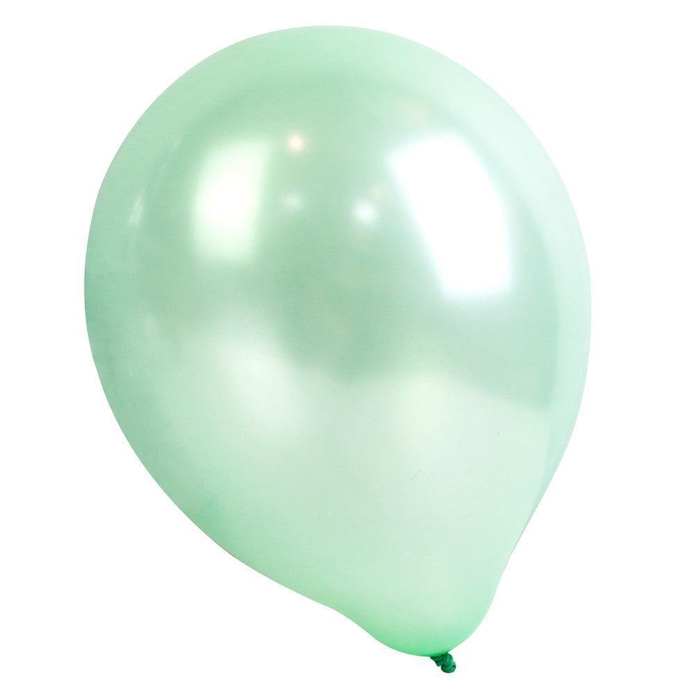 16 Latexballons in pastell gelb mint rosa