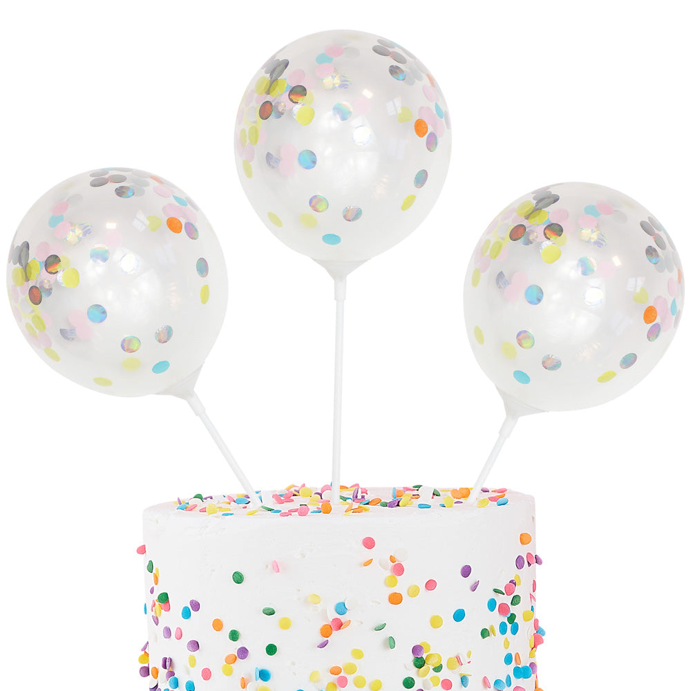 mini konfetti ballon cake topper