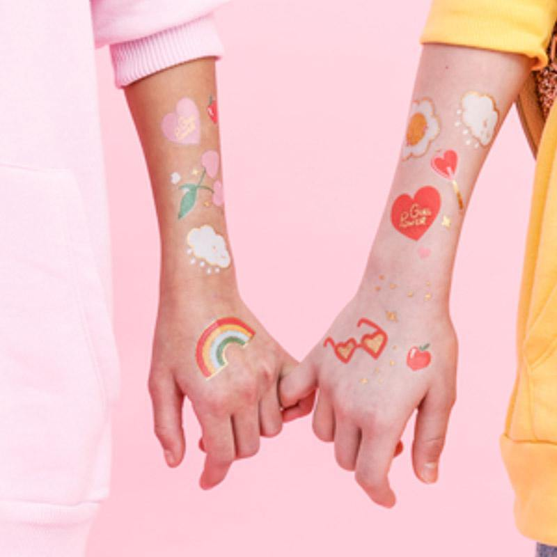 """Girl Power"" Kinder Tattoos"