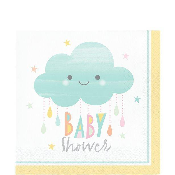 Babyparty Servietten Wolken Motiv