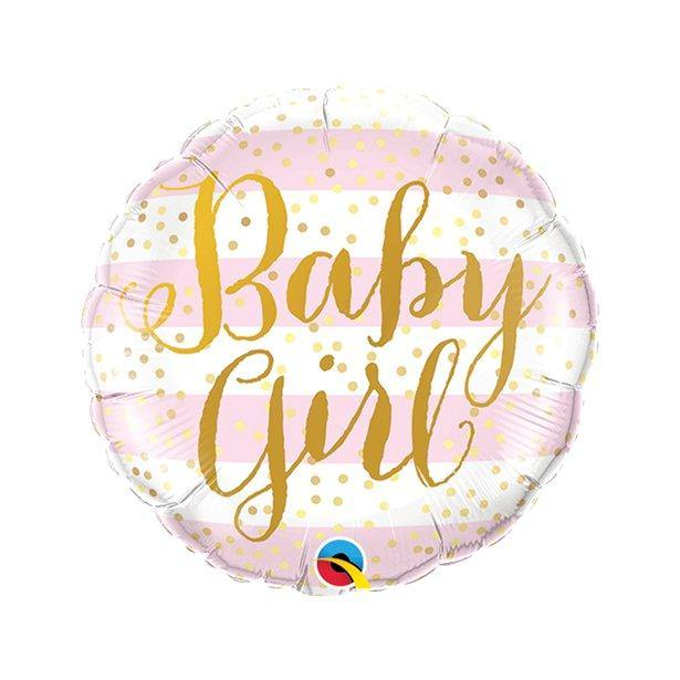 Baby Girl folienballon rosa mini