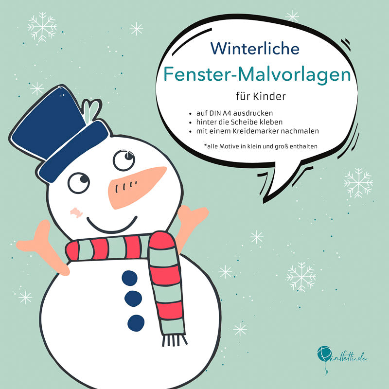 fenster malvorlagen winter kinder download