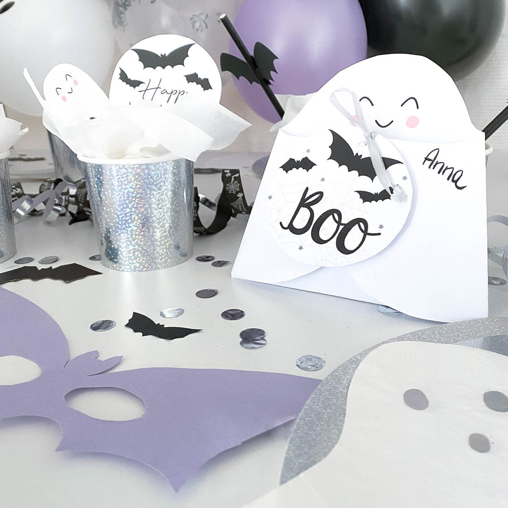 halloween einladung gespenst kinder party