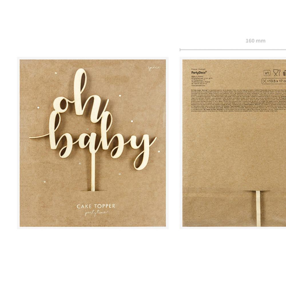 oh baby cake topper holz