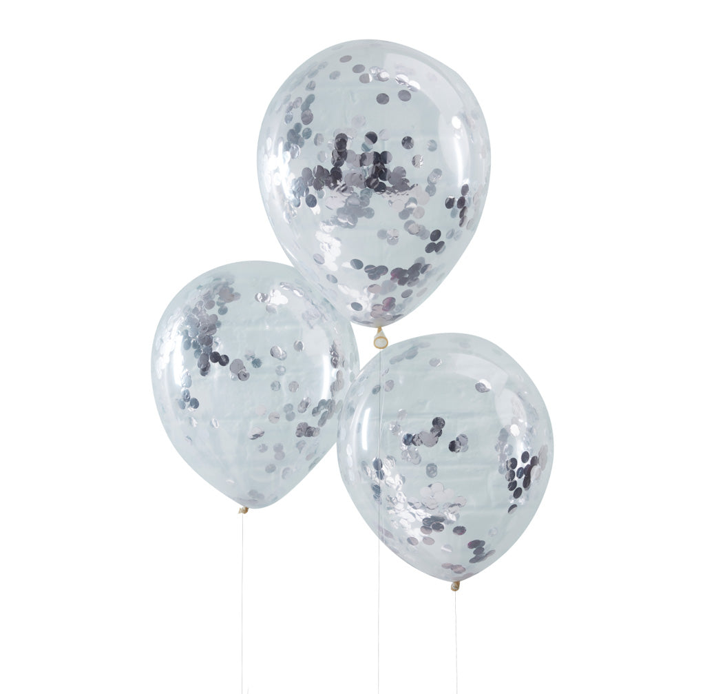 silber Konfetti Ballons ginger ray