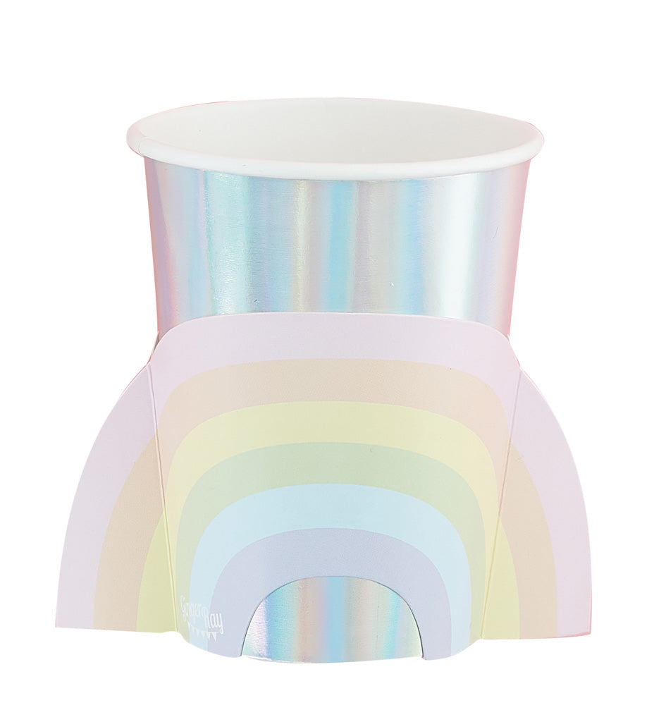 Regenbogen Party Becher pastell