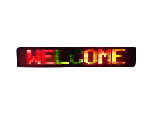 Tri-color LED Sign 2 line programmable scrolling LED Display
