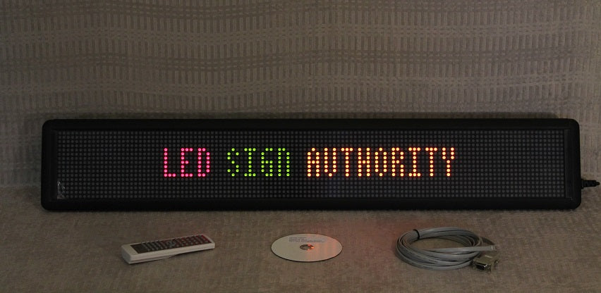 Tri-color LED Sign 2 line moving message scrolling LED Display
