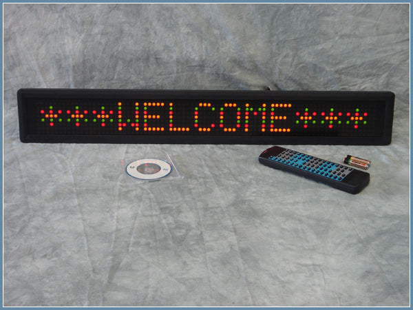 Indoor Tri-color Programmable Scrolling LED Sign 7x80