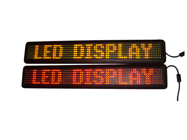 Tri-color One Line Scrolling LED Sign 26""