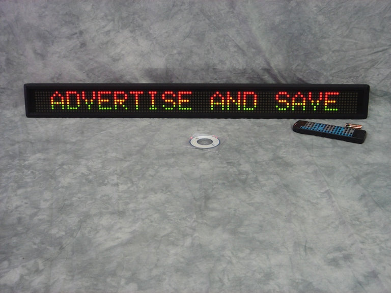 "38"" Tri-color programmable scrolling message LED Sign"