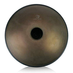 """Lark Music"" hand pan in D Minor 9 notes steel hand drum (22.8"" (58cm), Brozne Surface (D Minor) 9 notes D3 A Bb C D E F G A)"