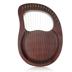 "Timeless Classic""OW""16-String Wooden Lyre Harp,Mahogany Wood String Instrument with Carry Bag,Tuning Wrench,Cleaning Cloth and backup 16 Strings"