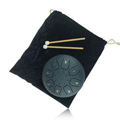 """OcarinaWind"" 6.3 Inch C Major Steel Tongue Drum Navy Blue 8 Notes with Elegant Quality Drum Bag and Couple of Mallets,Good Christmas Gift Idea,Easy to Learn,Wonderful Gift Idea,Titanium Steel Alloy"