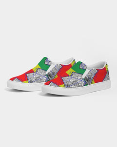 FUNKARA POLYGON CLOTH 1 Women's Slip-On Canvas Shoe