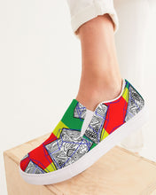 Load image into Gallery viewer, FUNKARA POLYGON CLOTH 1 Women's Slip-On Canvas Shoe