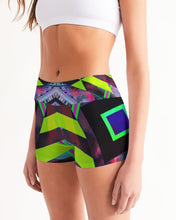 Load image into Gallery viewer, GALAXY GEO URBAN Women's Mid-Rise Yoga Shorts