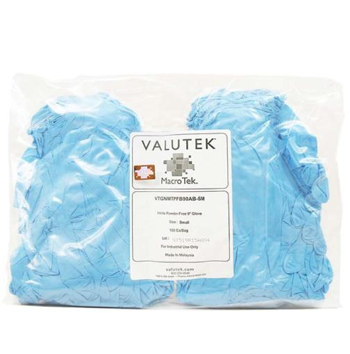 "Nitrile Glove Mulit-Task Powder Free Bagged 9""  Cuff 
