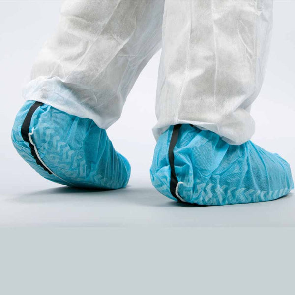 Polypropylene Shoe Cover Anti-Skid Shoe Cover ESD | Blue 40 gsm 100 ea/Bag 3 Bags/Case
