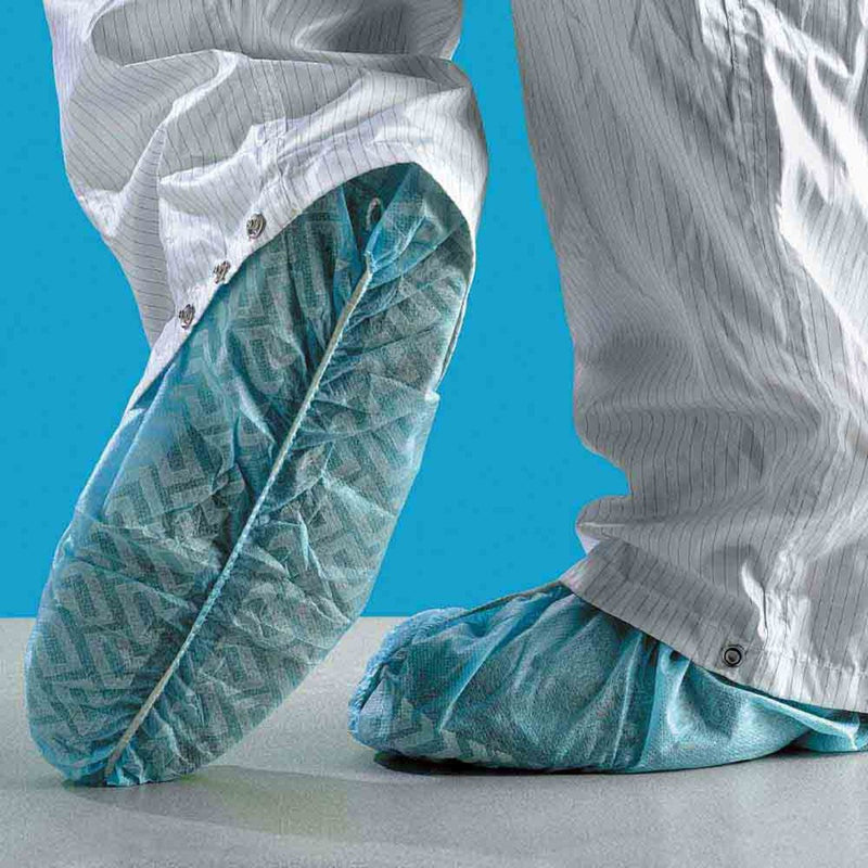 Polypropylene Shoe Cover Anti-Skid Blue 40 gsm 100 ea/Bag 3 Bags/Case