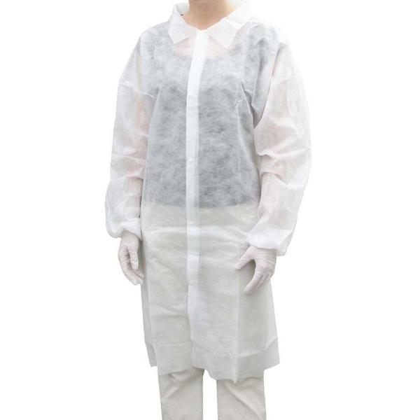 Polypropylene Labcoat No Pockets