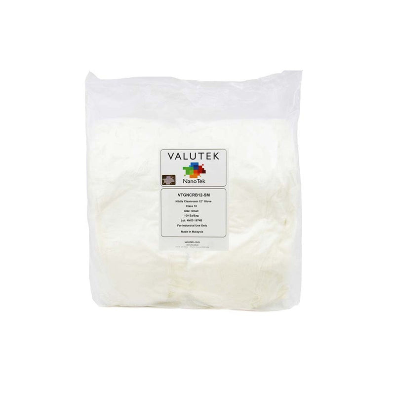 "Nitrile Cleanroom Glove Bagged 12"" Cuff 