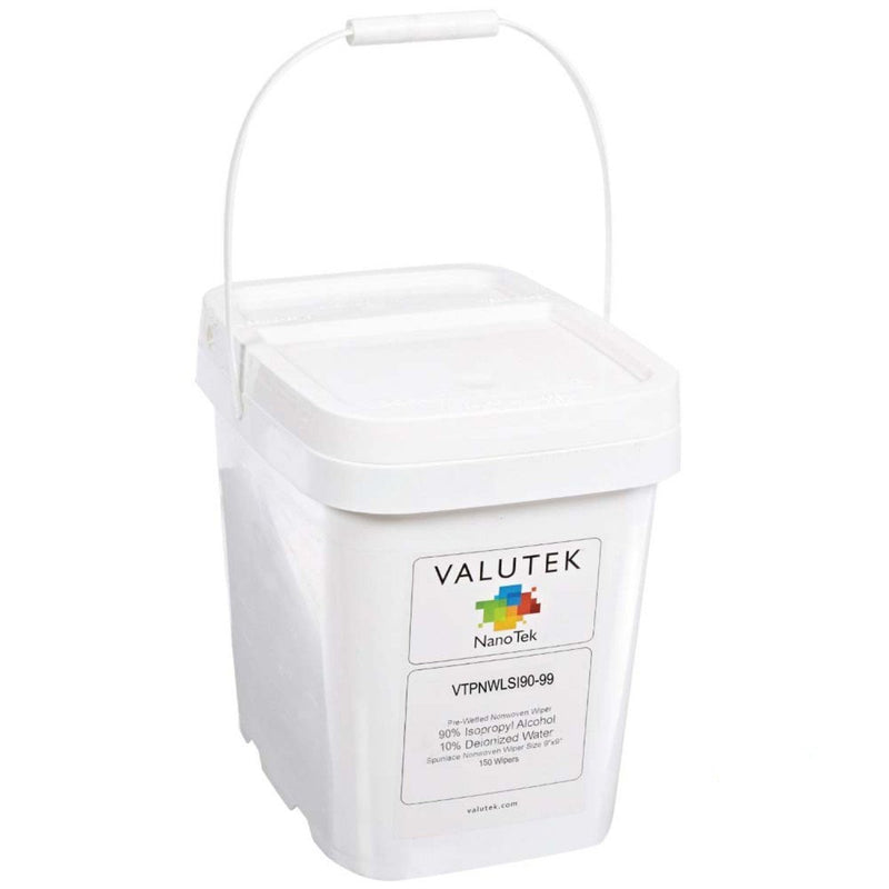 "Valutek -  70%, 90% or 10% IPA, Polyester, Laser seal Wiper, 9"" x 9"""