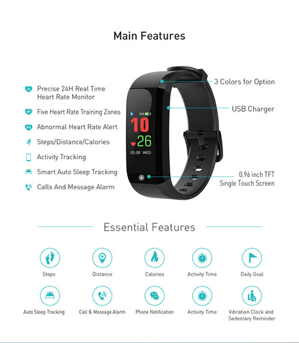 Biotraka Sports - Feature packed wearable with precise 24 hour real time heart rate monitor.