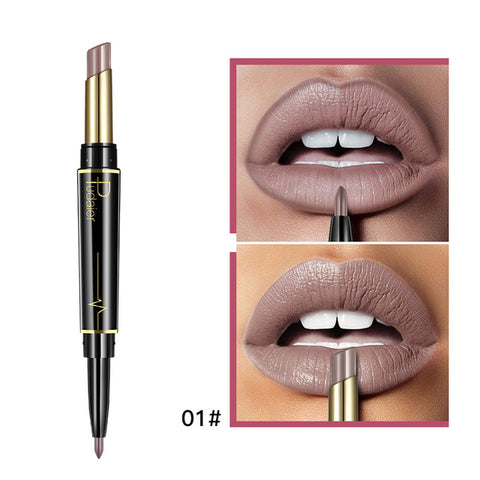 Pudaier Matte Lipstick  Long Lasting Lipsticks  Cosmetics Nude Dark Red Lips Liner Pencil
