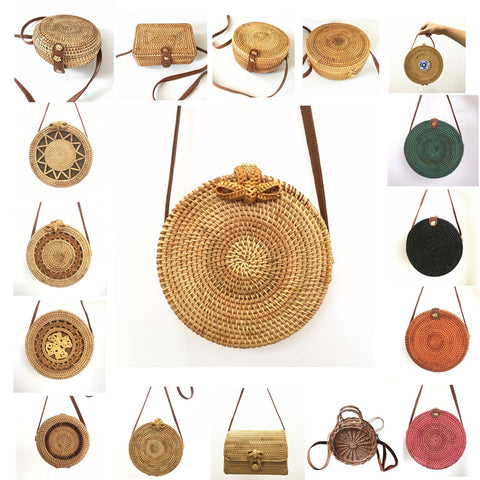 Rattan Bags  summer Fashion Hot Shoulder Straw Bag