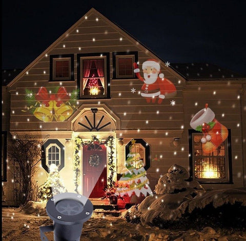LED Santa Claus Outdoor Projector Landscape Light Waterproof Disco Lights Home Garden Outdoor Decoration