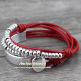 Wrap Jewelry Women Leather Bracelet Bangle