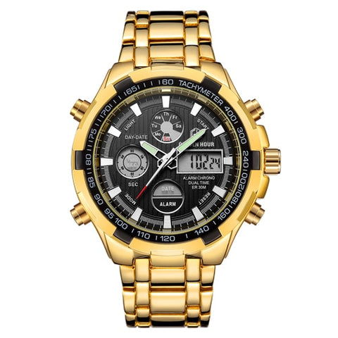 GOLDENHOUR Luxury Brand sport watches men