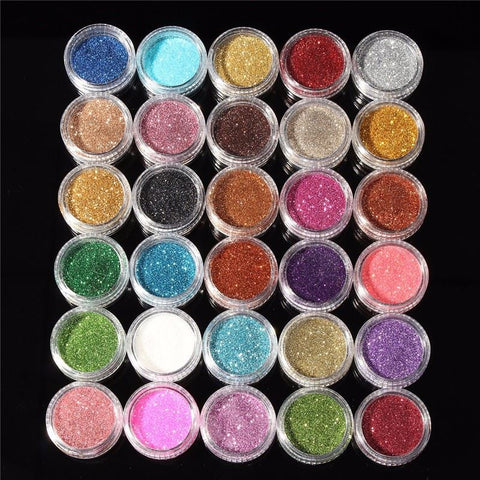 30pcs Mixed Color Cosmetics Set Make Up Shimmer Shining Eye Shadow