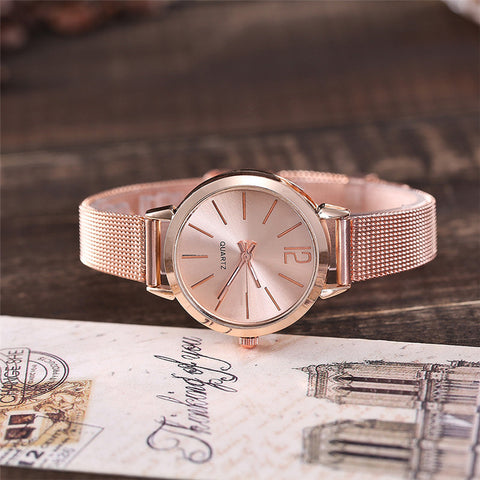 Women Stainless Steel Lady Bracelet Watch